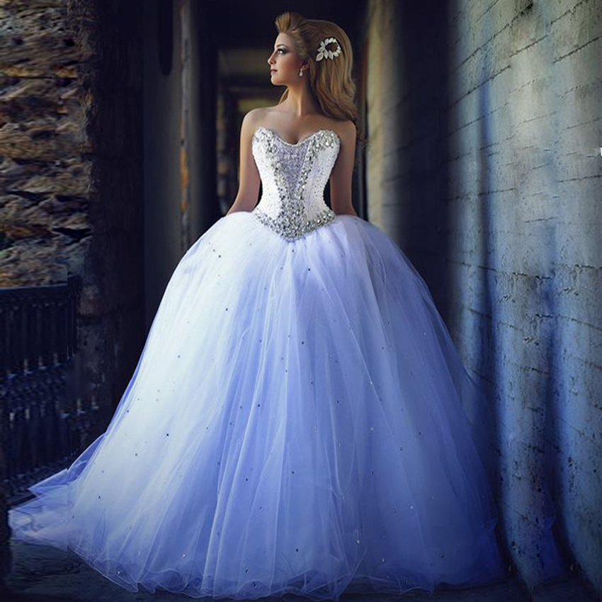 Ball gown wedding dress tulle wedding dress puffy for Very puffy wedding dresses